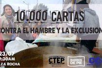 [Mar del Plata] 10 Mil Cartas contra el hambre y la exclusión