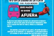 [La Plata] 6/5 Acompañamos la lucha de los estudiantes por el Boleto Gratuito