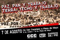 Barrios de Pie y otras organizaciones sociales de Liniers a Pza de Mayo