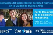 [CABA] Candidatos de 1 País presentan informe sobre Malnutrición