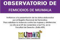[Corrientes] Dan a conocer los datos del Observatorio de Femicidios de MuMaLá