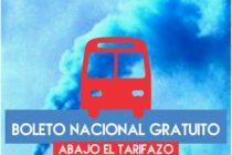 De pie y en unidad: Por el Boleto Educativo Nacional y Gratuito. Abajo el Tarifazo.