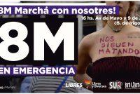 Hoy Viernes 8. Las Mujeres y las Disidencias estamos este 8M en emergencia.