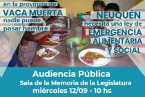 [Neuquén] Harán una Audiencia Pública por la Emergencia Social y Alimentaria