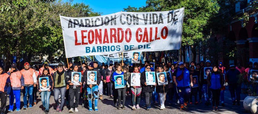 [Santiago del Estero] Con una radio abierta y marcha, Barrios de Pie reclamó por Leonardo Gallo