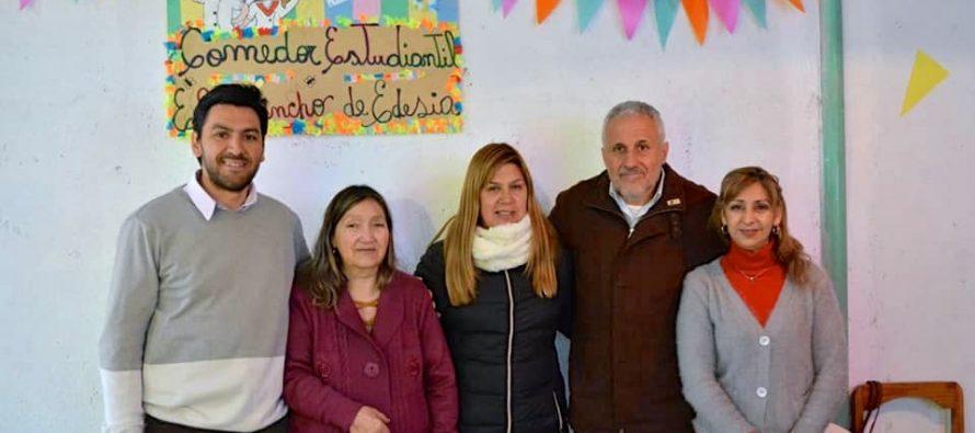 [Plottier] Carlos Javier Lopez: Vamos a seguir abriendo comedores para evitar la deserción escolar