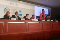 Graciela Cousinet presidiendo el foro de Parlaméricas en México