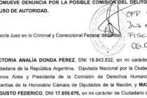 Victoria Donda denunció penalmente al presidente Mauricio Macri