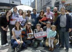 Victoria Donda en campaña por Belgrano