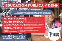 [CABA] Hoy: Donda y Velasco en Debate sobre Educación Pública