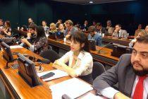 Victoria Donda en Brasil en la audiencia por la venta de Petrobras