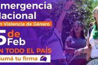 Hoy: Firma por la declaración de emergencia nacional por violencias machistas.