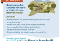 [Mendoza] 2/4 Iniciativa del Senador Mancinelli por Senderos de Chacras Reserva Ecológica