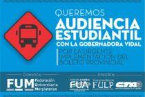 [La Plata] FUM: 6 millones de jóvenes esperan respuesta de la Gobernadora Vidal