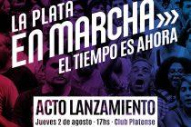 """[La Plata] El frente """"En Marcha"""" realizará un acto en el Club Platense."""
