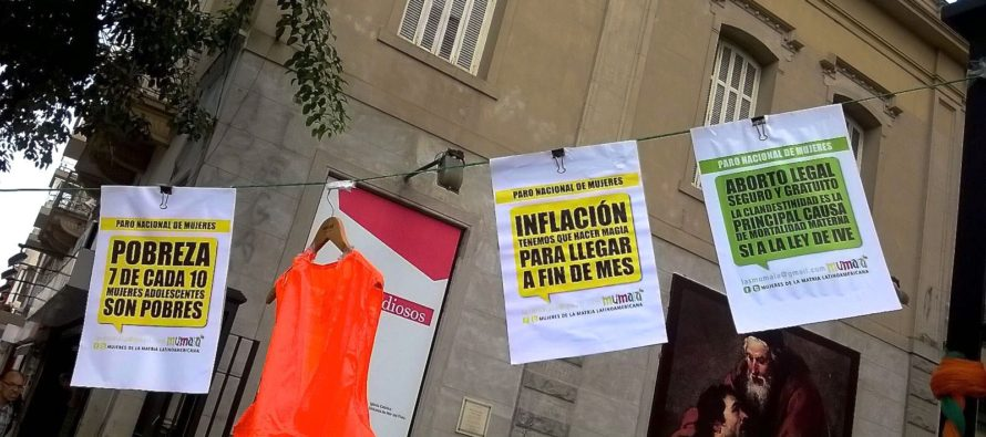 [Mar del Plata] Cientas se movilizaron por el Día de la Mujer Trabajadora