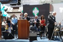 [La Matanza] Sandra Oviedo en la celebracíon de los cien años de la Casa de Auxilio