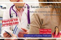 [Mendoza] Una Libreta para cuidar la salud de las Mujeres