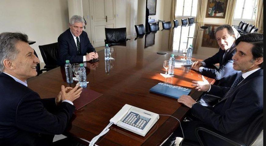 En febrero de 2018, Macri se reunió en la Quinta Presidencial de Olivos con el CEO de Telefónica, José María Álvarez-Pallete (FOTO: Presidencia)