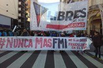 Marcha en repudio a la visita del FMI