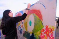 """[Chaco] Pinturas colaborativas en el lanzamiento de """"Murales al Barrio"""""""