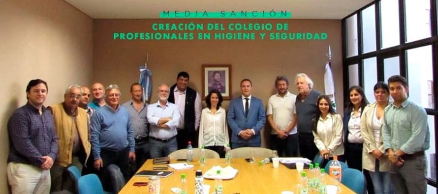 [San Luis] Media sanción a la creación del Colegio de Profesionales de Higiene y Seguridad en el Trabajo