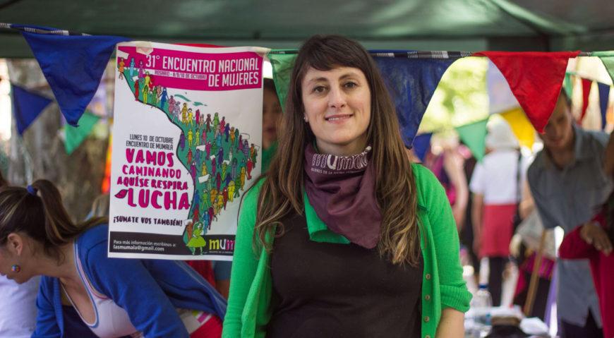 Raquel Vivanco, del movimiento de mujeres Mumalá.