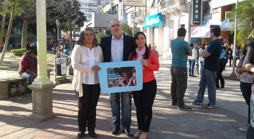 Gabriel Romero acompañando reclamos sociales