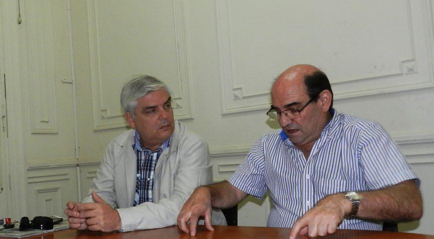 Gabriel Romero junto a Humberto Tumini