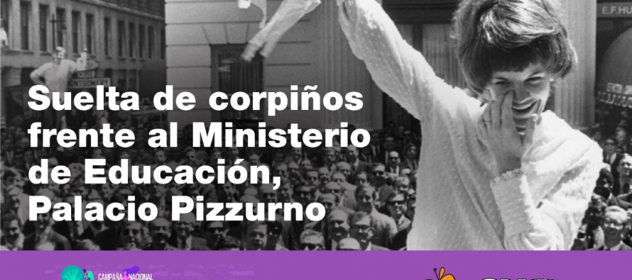 [CABA] Suelta de corpiños frente al Ministerio de Educación #LibresNosQueremos