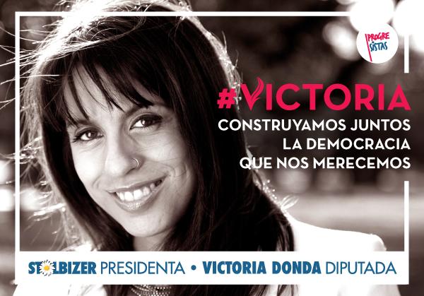 Victoria Donda afiche campaña