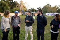 [Mar del Plata] Ariel Ciano visitó escuelita de fútbol junto referentes de Libres del Sur