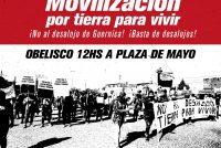 Recuperación de tierras: Barrios de Pie movilizará junto a organizaciones sociales a Plaza de Mayo