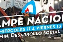 Barrios de Pie: Acampe de 48 hs frente a Desarrollo Social. 11/9, 15 hs