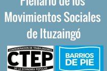 [Ituzaingó] 17/7 Plenario de Movimientos Sociales
