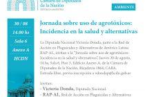 Este jueves 30 Jornada sobre Agrotóxicos en Cámara de Diputados