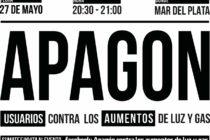 [Mar del Plata] 27/5 Convocan a un apagón en rechazo al tarifazo