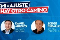 Hoy: Ceballos y Arroyo debatirán sobre el acuerdo con el FMI en Avellaneda