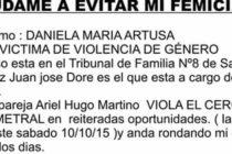 [La Matanza] 15/10 Que Daniela no se convierta en otra víctima de femicidio