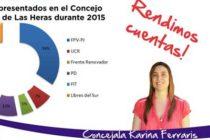 [Mendoza] La Concejala Karina Ferraris presentó su informe anual de gestión