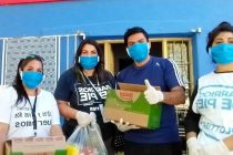 [Plottier] Donación alimentos: Barrios de Pie entrega barbijos por alimentos