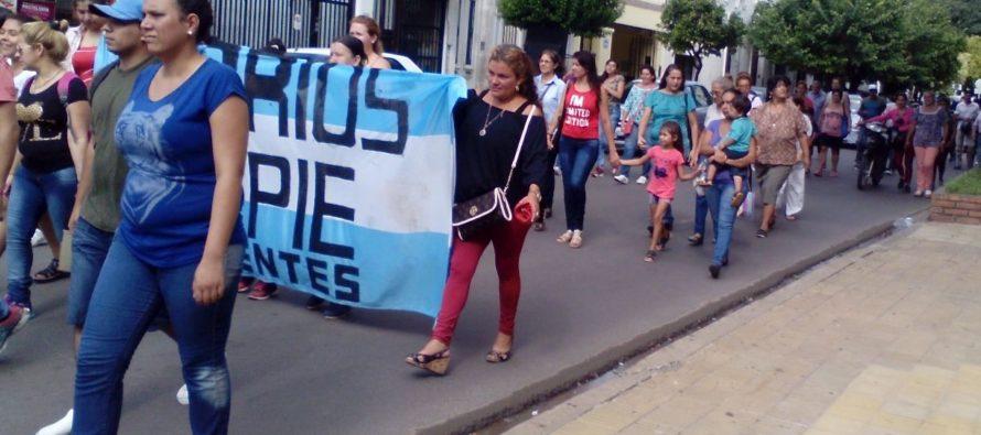 [Corrientes] Barrios de Pie se movilizó hasta la Gerencia de Empleo y Capacitación Laboral