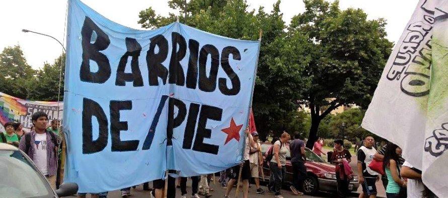 [La Plata] Barrios de Pie se moviliza por el despido de cooperativistas