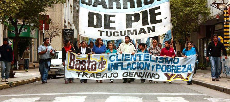 [Tucumán] 14.9 Barrios de Pie moviliza por demora en pago de programas
