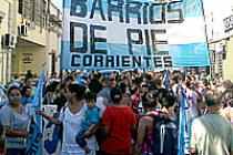 [Corrientes] El Movimiento Barrios de Pie adhiere a la jornada
