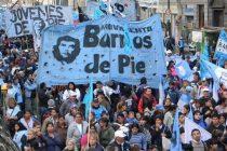 Barrios de Pie movilizará a San Cayetano.