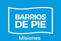 [Misiones] Barrios de Pie muestra parte de su tarea social en la provincia