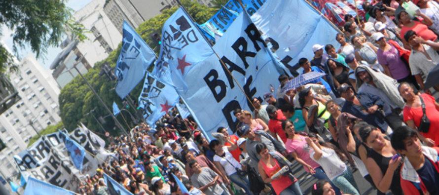 [CABA] Barrios de Pie se moviliza a Desarrollo Social, solicita reunión con Alicia Kirchner