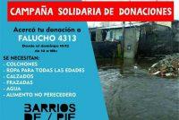 [Mar del Plata] Barrios de Pie inicia campaña de donaciones por los inundados