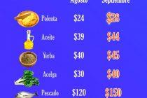 [Chaco] La Canasta Básica Total aumentó $1200 en septiembre.